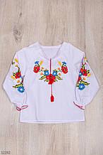 Вышиванка для девочки с длинным рукавом рост 122-146 (7-11 лет)