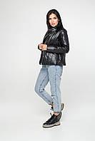Куртка демісезонна еко шкіра(Чорний), фото 1