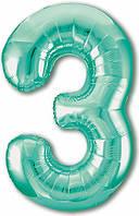 Цифра 3 Slim  Agura  Бискайский зелений