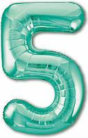Цифра 5 Slim  Agura  Бискайский зелений