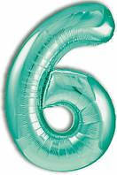 Цифра 6 Slim  Agura  Бискайский зелений