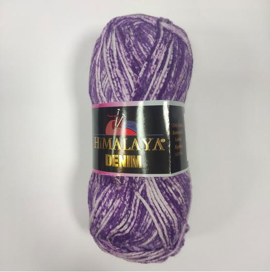 Бавовняна пряжа Denim Himalaya Денім, різні кольори, фіолетовий