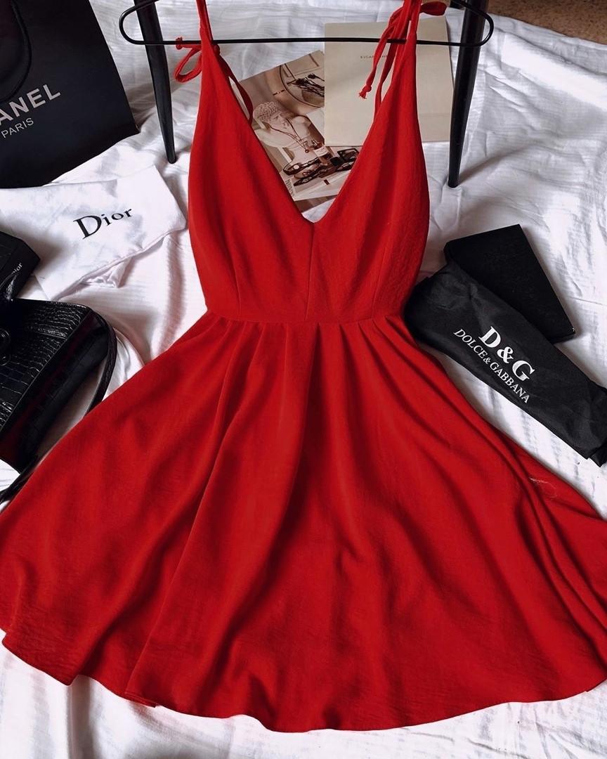 Жіноче плаття, американський креп, р-р універсальний 42-46 (червоний)