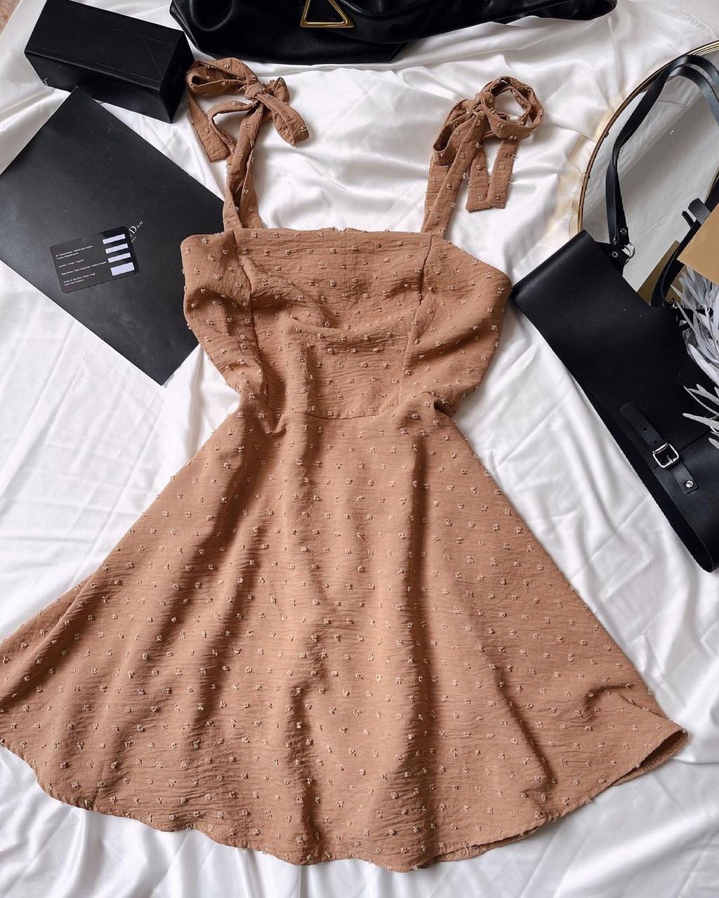 Женское платье, американский креп, р-р 42-44; 44-46 (беж)