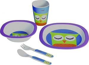 Набор посуды детской Con Brio CB-250 5 предметов тарелки вилка ложка