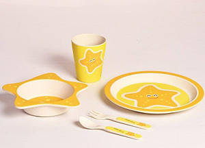Набір дитячої бамбуковій посуду Con Brio CB-253 5 предметів