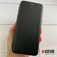 Чехол книга для Xiaomi Redmi Note 7 с эко кожи с подставкой книжка на телефон сяоми редми нот 7 черная STN