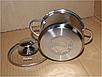 Кастрюля с крышкой из нержавеющей стали Con Brio CB-1105 (1.6 л) | набор посуды Con Brio | кастрюли Con Brio, фото 4