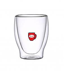Набір склянок з подвійними стінками Con Brio CB-8826 6 шт | скляні стакани Con Brio