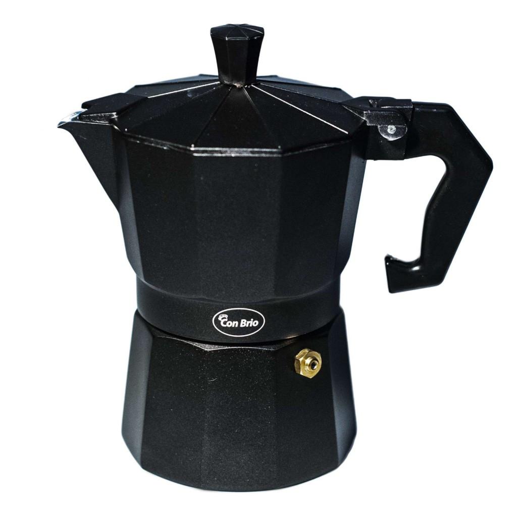 Гейзерна кавоварка Con Brio CB-6403 на 3 чашки   турка Con Brio