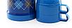 Вакуумний термос зі скляною колбою Con Brio CB-352 (1000 мл) | термочашка Con Brio | термос 1,0 л синій, фото 3