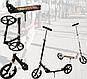 Самокат дитячий Scooter 109 складной чорний (до 100 кг)   двоколісний міської самокат Скутер 109 алюміній, фото 10