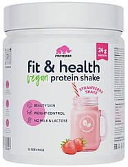 Растительный протеин Primebar  Fit & Health VEGAN Protein Shake Клубничный Коктейль (550 грамм)