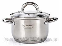 Набір кухонного посуду Edenberg з глибокої сковородою і сотейник, 12 предметів, фото 4