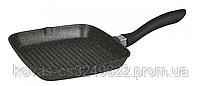 Сковорода гриль Edenberg чорного кольору з мармуровим покриттям - 24 см, фото 3