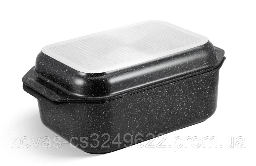 Гусятница Edenberg прямоугольной формы с мраморным покрытием - 8 л / 41.5 x 25.5 x 17см