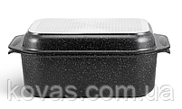 Гусятница Edenberg прямоугольной формы с мраморным покрытием - 8 л / 41.5 x 25.5 x 17см, фото 5