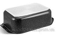 Гусятница Edenberg прямоугольной формы с мраморным покрытием - 8 л / 41.5 x 25.5 x 17см, фото 6