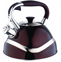 Чайник Edenberg EB-7010 со свистком из нержавеющей стали 3 л | Свистящий металлический чайник, фото 2