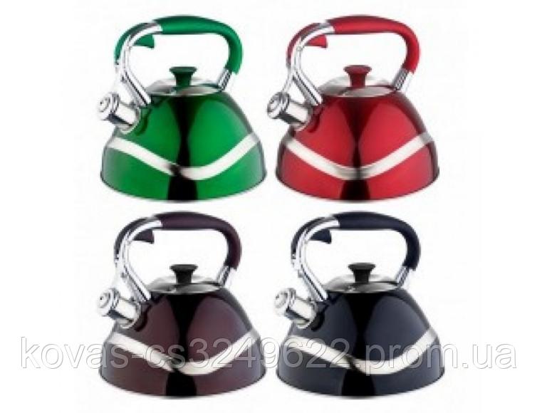 Чайник Edenberg EB-7010 со свистком из нержавеющей стали 3 л | Свистящий металлический чайник