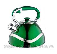 Чайник Edenberg EB-7010 со свистком из нержавеющей стали 3 л | Свистящий металлический чайник, фото 4