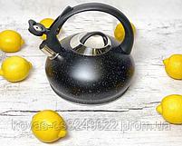 Чайник со свистком 3л из нержавеющей стали Edenberg EB-8812 Чайник для индукционных плит С мраморным покрытием, фото 2