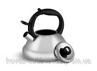 Чайник Edenberg EB-8814 со свистком из нержавеющей стали 3 л | Свистящий металлический чайник, фото 2