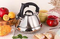 Чайник со свистком 3л из нержавеющей стали Edenberg EB-8824 Чайник для индукционной плиты Чайник газовый, фото 2