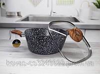 Казан Edenberg с гранитным покрытием серого цвета со стеклянной крышкой - 7.0 л., фото 2