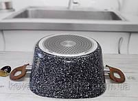 Казан Edenberg с гранитным покрытием серого цвета со стеклянной крышкой - 7.0 л., фото 3