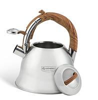 Чайник зі свистком 3 л з нержавіючої сталі для газової плити Edenberg EB-1978, фото 3
