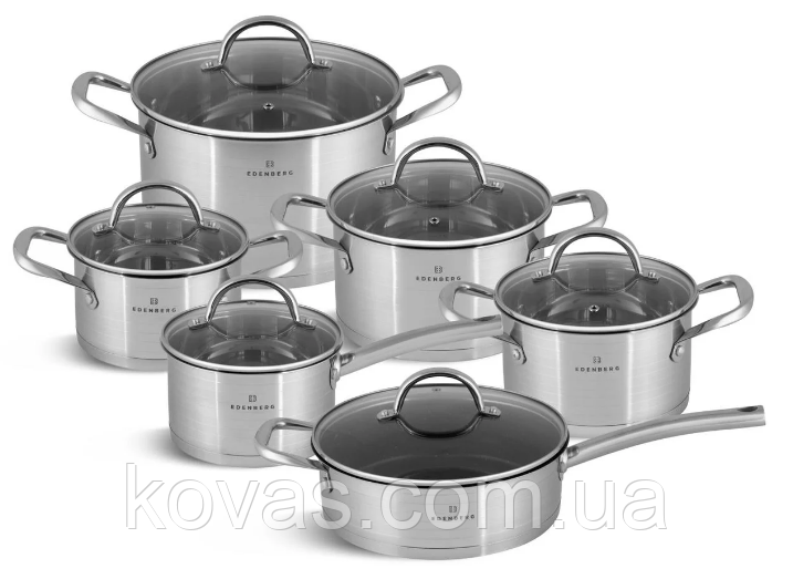 Набір Кухонного посуду 6 Предметів 1.9/1.9/2.7/3.6/6.5/3.4 Лтр. EB-7701