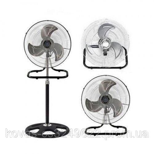 Вентилятор DOMOTEC MS - 1622, Вентилятор 3в1 підлоговий-настінний-настільний, діаметр 50см