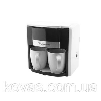 Кофеварка Domotec Ms-0706 Белая (500Вт, 2 Кер. Чашки по 150Мл)