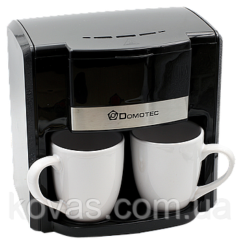 Кофеварка Domotec MS 0708 + 2 чашки  220V / кофемашина Домотек 500Вт 300мл