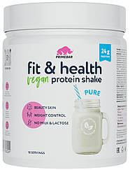 Растительный протеин Primebar Fit & Health VEGAN Protein Shake Pure  с Нейтральным Вкусом (550 грамм)