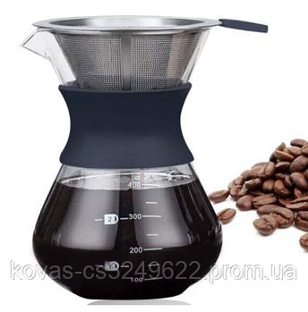 Капельная кофеварка из стекла (Заварник для кофе) Frico FRU-336 - 200 мл