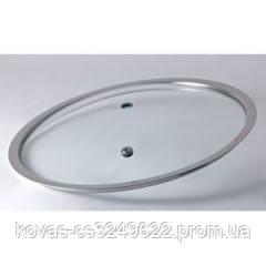 Плоская стеклянная крышка без ручек 26 см. FRU-1008F