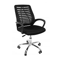 Кресло для офиса компьютерное Бонро B-620 на колесиках, офисное кресло операторское для персонала черный
