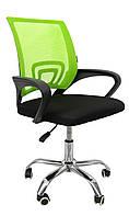 Офисное кресло Bonro операторское для персонала с каучуковыми колесами, кресло для офиса компьютерное зеленое