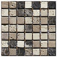 Плитка Мозаика Mozaico de LUX K-MOS TRAVERTINO MIX EMPERADOR (15X15) 259468