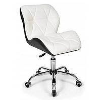 Офисное кресло операторское для персонала Бонро, кресло для офиса компьютерное черно белое, стулья офисные