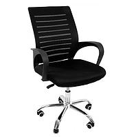 Офисное кресло операторское для персонала на колесиках, кресло для офиса компьютерное с вентилируемой спинкой