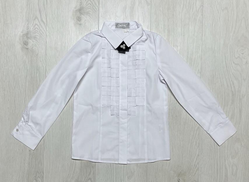 Сорочка Біла блузка дитяча 128/146 зростання