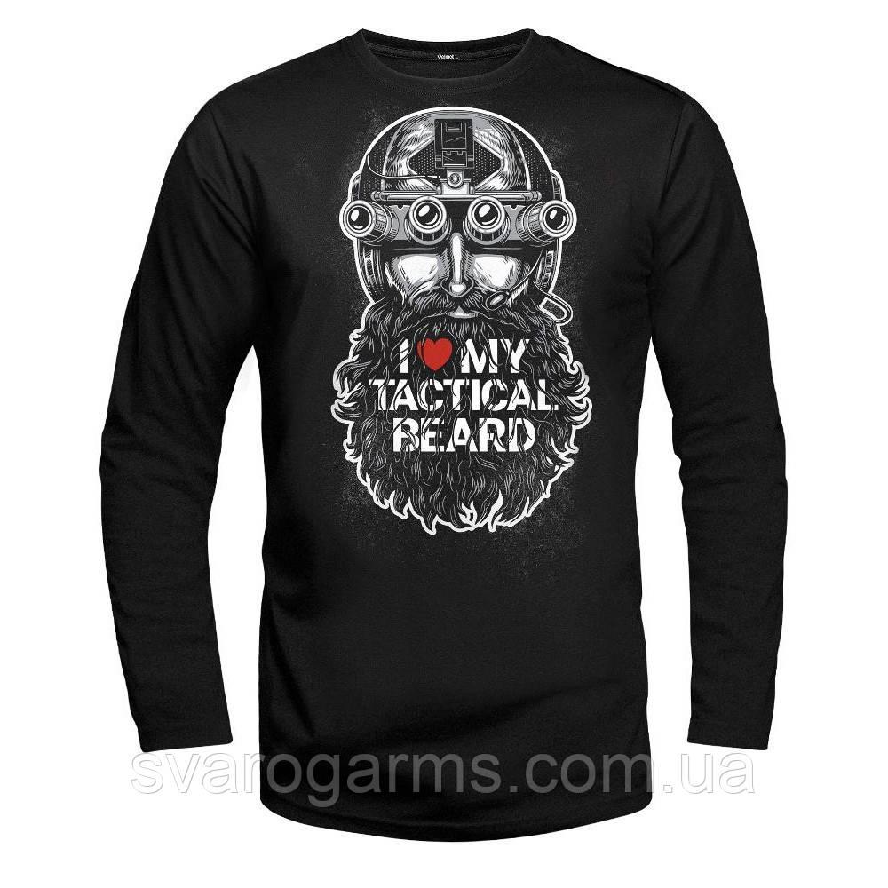 Футболка с длинным рукавом - Tactical Beard Black