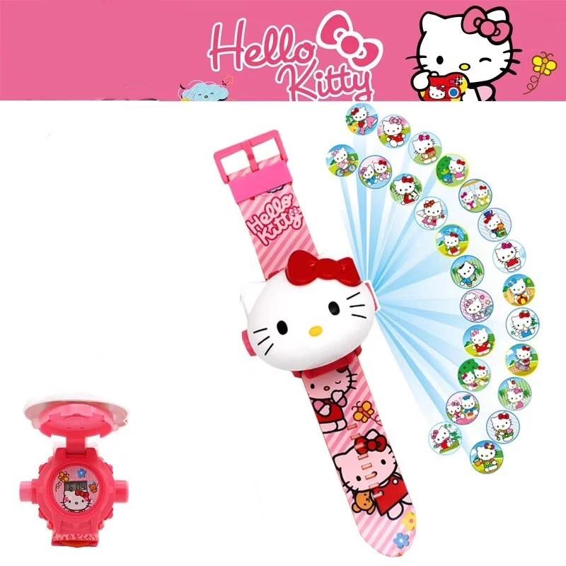 Іграшка Дитячі годинники з проекцією Hello Kitty,наручні годинники для дівчинки Хелоу Кітті з проектором
