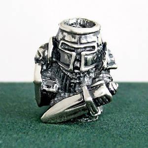 Серебряная бусина Тевтонский Рыцарь подвеска из серебра 925 пробы
