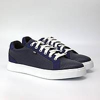Мужские кожаные кроссовки синие кеды повседневные летняя обувь Rosso Avangard Puran Blu Floto Perf EVA