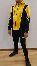 Спортивний костюм юніор PUMA\\ M3 replik комбінований хлопчик на 12-16 років купити опт зі складу 7км Одеса