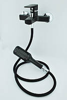 Смеситель в ванную с душем из термопластичного пластика Brinex 35B 006-4 New Черный силикон